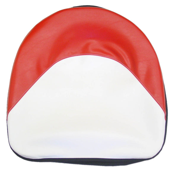 Red And White Tractor Seat Cushion - Bubs Tractor Parts