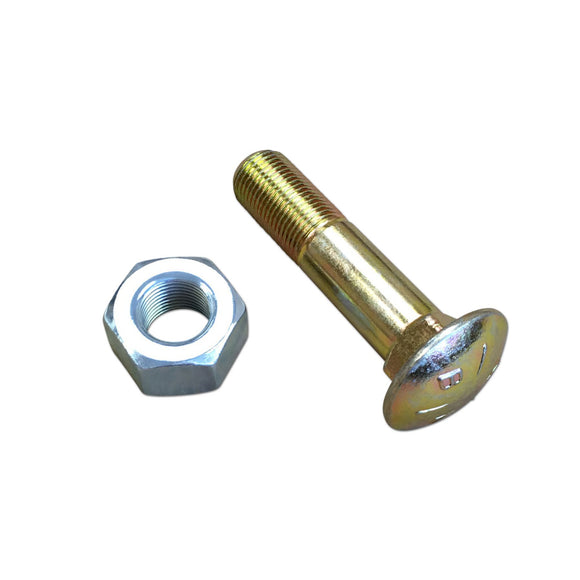 Rear Rim Bolt Assembly w/ Nut (For tractors w/ stamped steel center dishes)