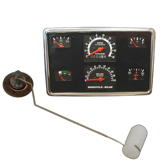 Gauge Panel With Fuel Sender Unit -- Fits Mm 335, 445, Jetstar & More! - Bubs Tractor Parts
