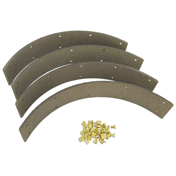 Brake Lining Kit With Rivets (Set Of 4) - Bubs Tractor Parts