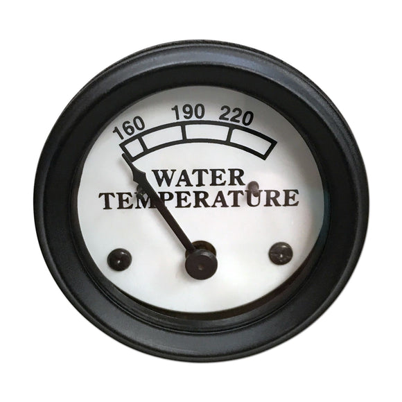 Water Temperature Gauge, White Face
