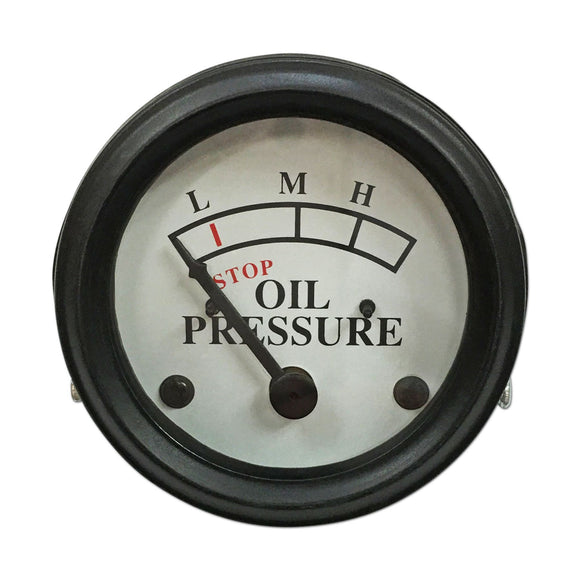 Oil Pressure Gauge (0-25 PSI) - Dash mounted, White Face - Bubs Tractor Parts