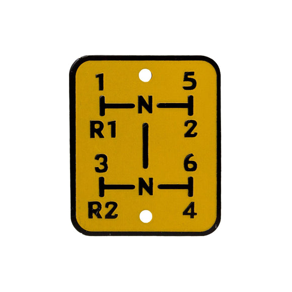 Shift Pattern Plate - Bubs Tractor Parts