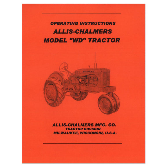 Operators Manual Reprint: AC WD - Bubs Tractor Parts