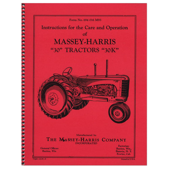 Care & Operation Manual - Bubs Tractor Parts