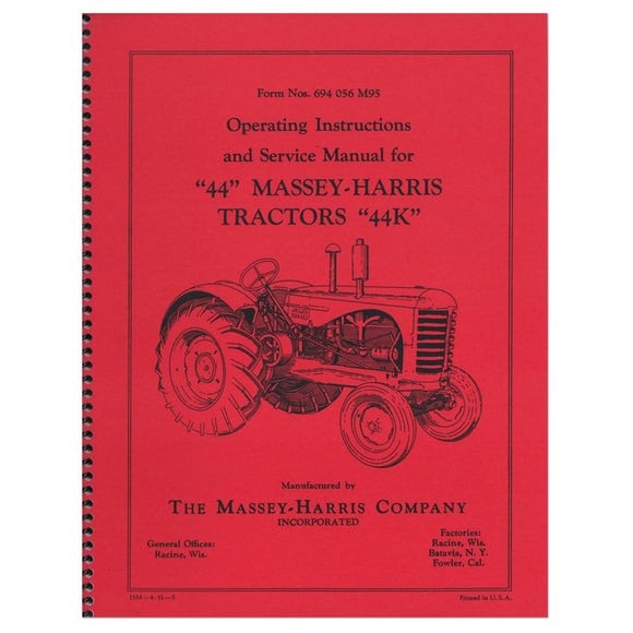 Operating Instruction & Service Manual - Bubs Tractor Parts