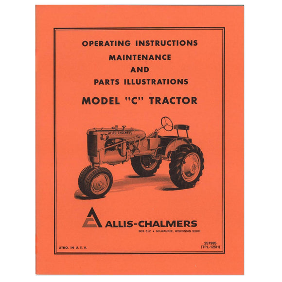 Operators Manual: AC C - Bubs Tractor Parts