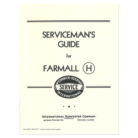 Operator & Service manual reprints