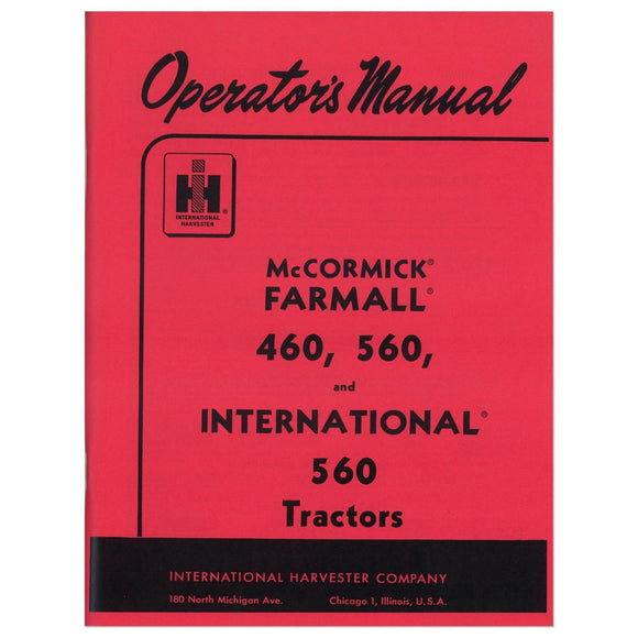 Operators Manual: Farmall 560 Gas - Bubs Tractor Parts