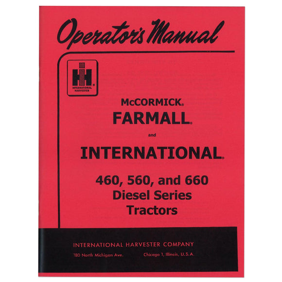 Operators Manual: IH 560 Diesel - Bubs Tractor Parts