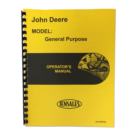 Operator Manual JD GP, GPO - Bubs Tractor Parts
