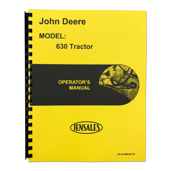 Operator Manual: JD 630 - Bubs Tractor Parts