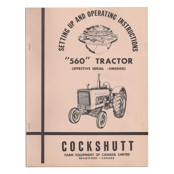 Operator Manual Reprint: Cockshutt 560 - Bubs Tractor Parts