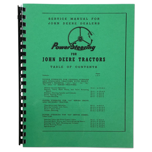 2-Cylinder Power Steering Service Manual Reprint - Bubs Tractor Parts