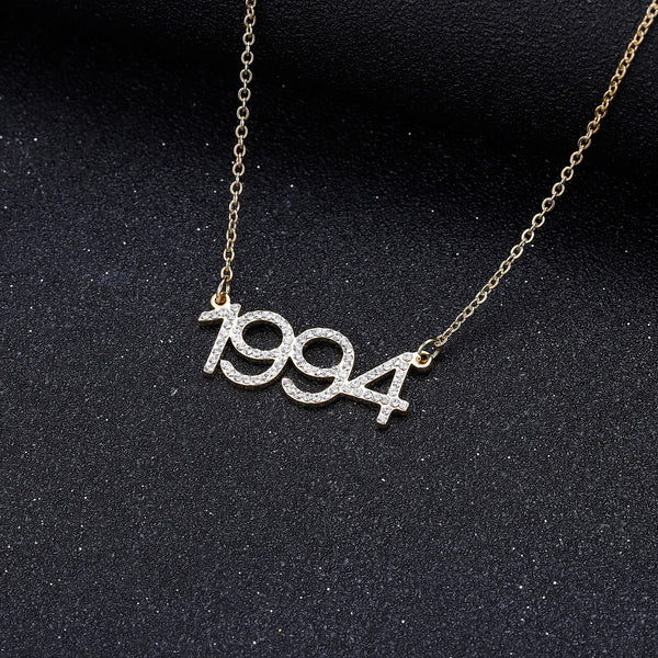 MOD - ICED OUT CUSTOM YEAR NECKLACE