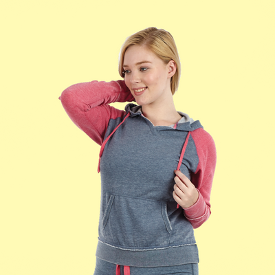 Ladies Raglan Fleece Hoodie | Burnout Hoodie (Style #327)