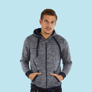 Adult Melange Hoodie With Full Zip (Style #768)