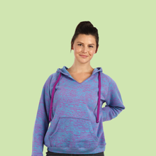 Ladies Burnout V-Neck Hoodie (Style #772)