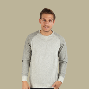 Mens Fleece Sweatshirt | Raglan Style Sweatshirt