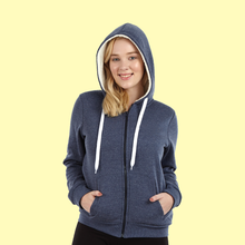 Ladies Sherpa Zip Up Hoodie (Style #782)