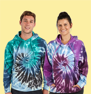 Adults Tie Dye Pullover Hooded Fleece (Style #788)