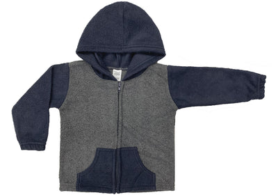 Toddlers Polar Fleece Color Block F/Z Hoodie w/ Pockets (Style# 797)