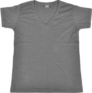 WOMENS HEATHER V-NECK SHORT SLEEVE T-SHIRT FINE JERSEY (STYLE #889WH)