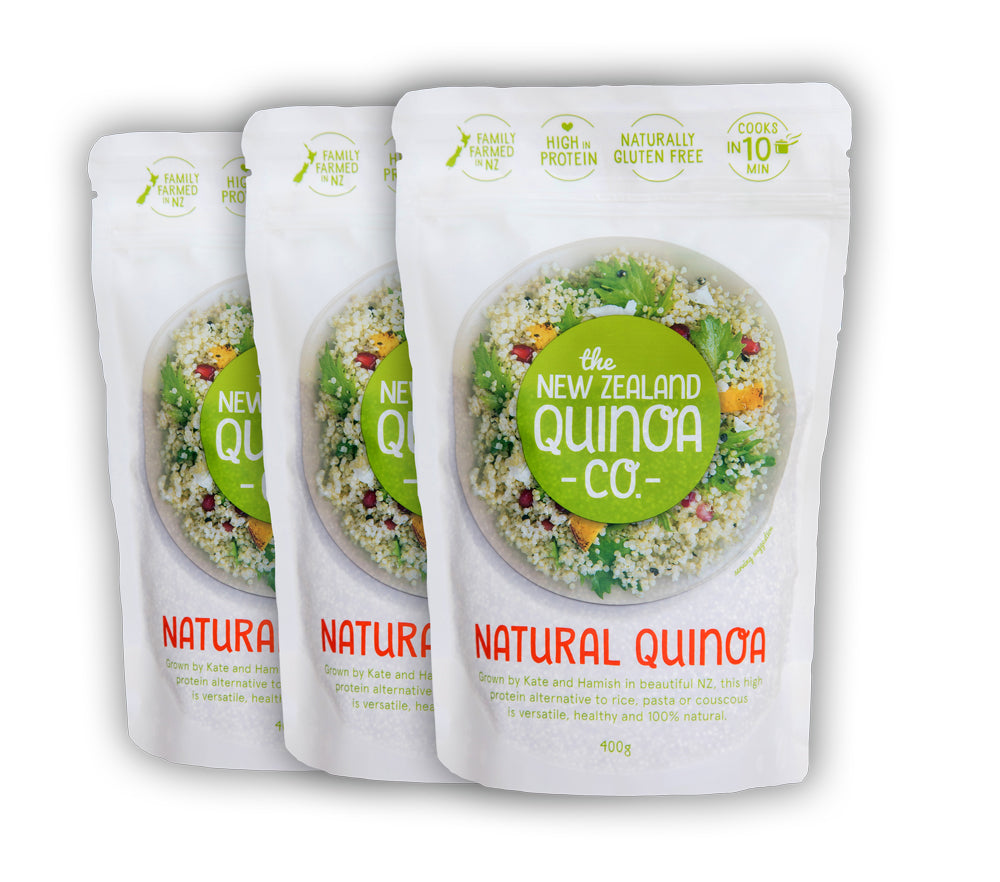 3 x 400g Natural Quinoa Pouches