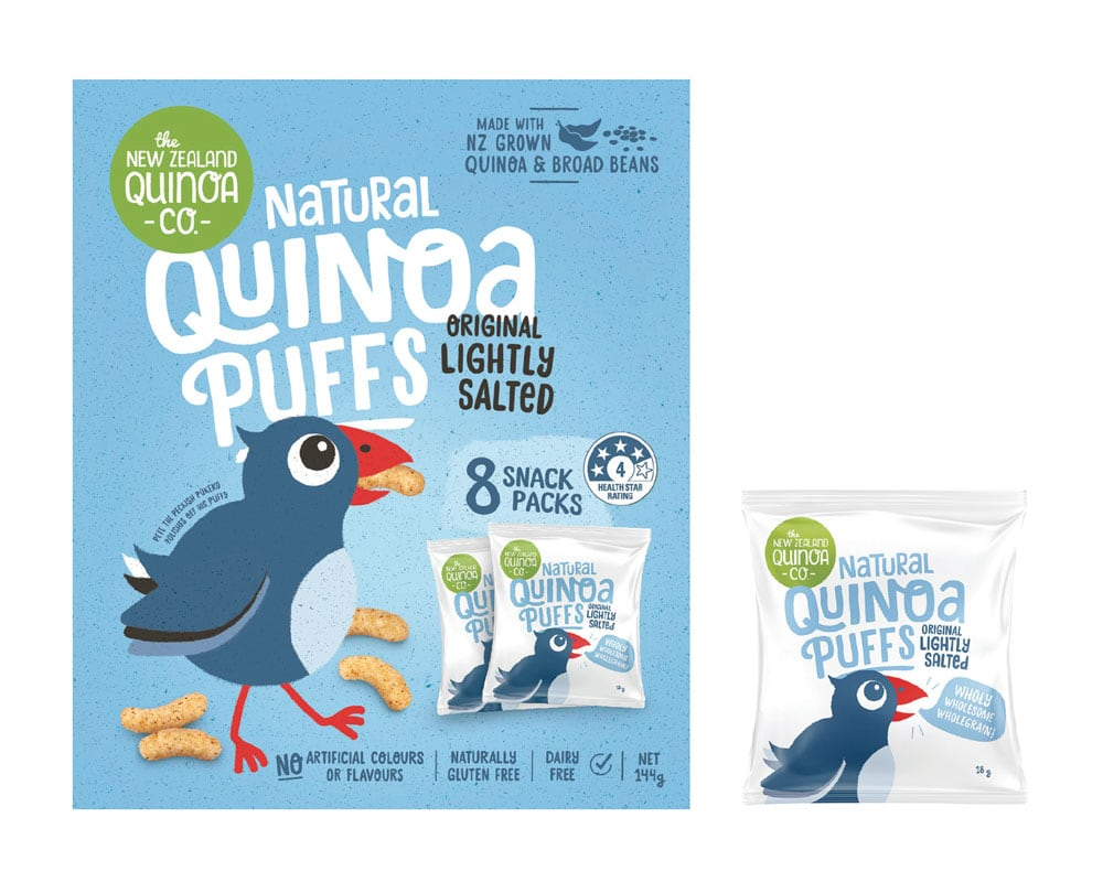 Natural Quinoa Puffs - Lightly Salted