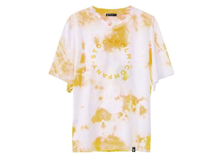 Yellow circle tie dye - playera - Stockholm company