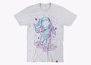 Lluvia y astronauta bicolor - Playera 6 colores disponible - Stockholm company