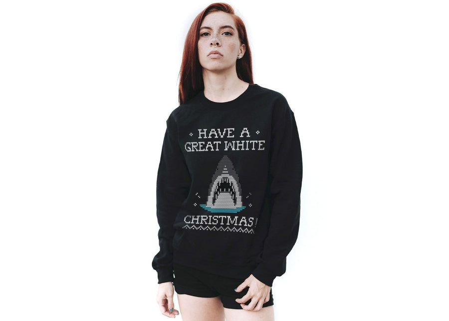 great white xmas - sudadera