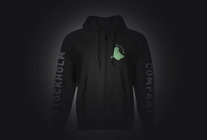 Boo you WHRE - Sudadera con cierre (glow in the dark) - Stockholm company