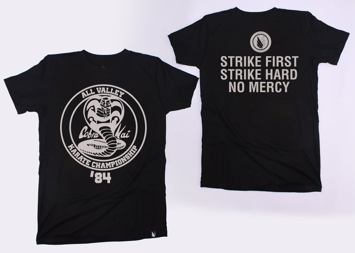 Cobra kai  Strike first Tribute - Playera (3 colores diferentes) - Stockholm company