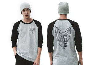 The bat - Playera 3/4 beisbolera unisex 2 colores disponible. - Stockholm company