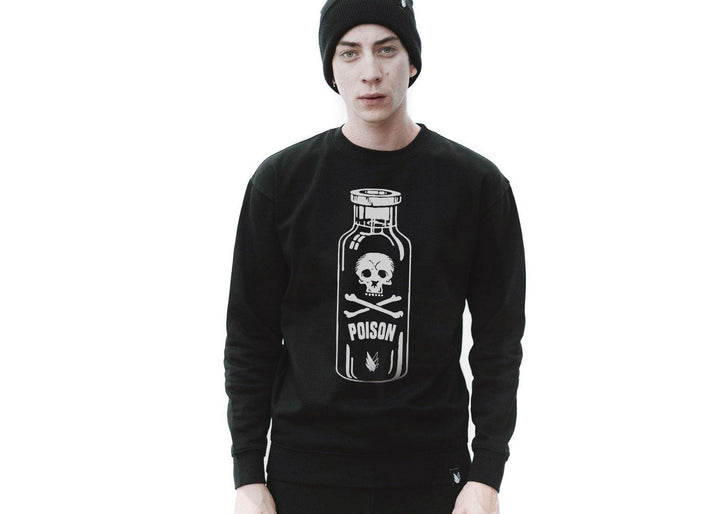 Poison Bottle skull - Sudadera