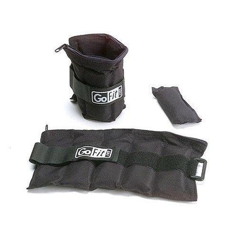 GoFit Adjustable Ankle Weights - 10 lbs. - Weighted Resistance