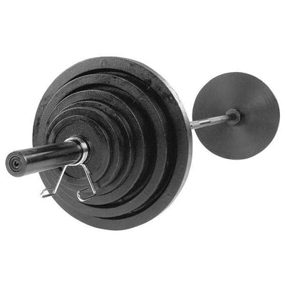 USA 300 lb Olympic Iron Weight Set - Olympic Plates