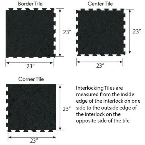 23 x 23 x 8mm Interlocking Puzzle Tile - Flooring