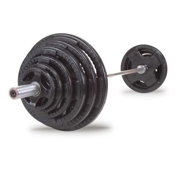 Body-Solid 300 lb Olympic Rubber Grip Weight Set - Olympic Plates