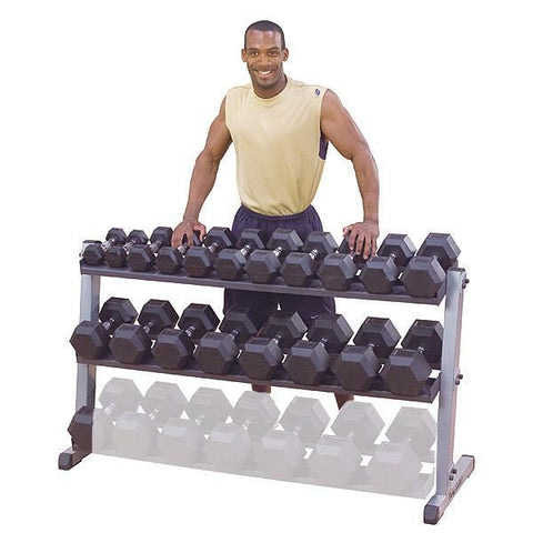 Pre-Owned Body-Solid 3 Tier Horizontal Dumbbell Rack #GDR60 - Pre-Owned