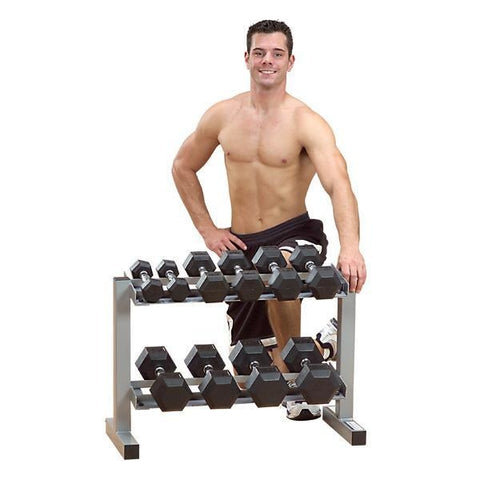 Powerline 32 2 Tier Dumbbell Rack #PDR282X - Storage