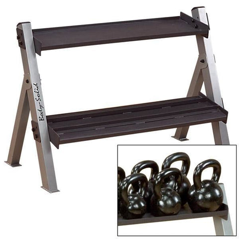 Body-Solid Dual Dumbbell & Kettlebell Rack #GDKR100 - Storage