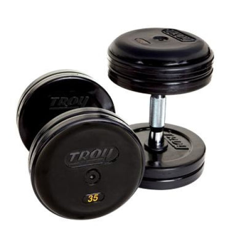 ProStyle Dumbbell Pairs Rubber Encased-Contoured Handle - Pro Style Dumbbells