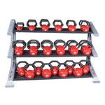Body-Solid Pro Club Line 3 Tier Kettlebell Rack #SDKR1000KB - Storage