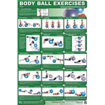 Body Ball Exercises Chart - Core - Handbooks Posters & DVDs