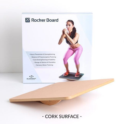 Element Fitness 20 Wooden Rocker Board #E2448 - Yoga & Pilates