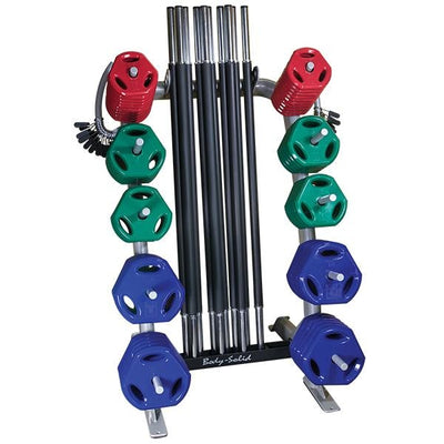 Body-Solid Cardio Barbell Rack #GCR100 - Free Weight Storage