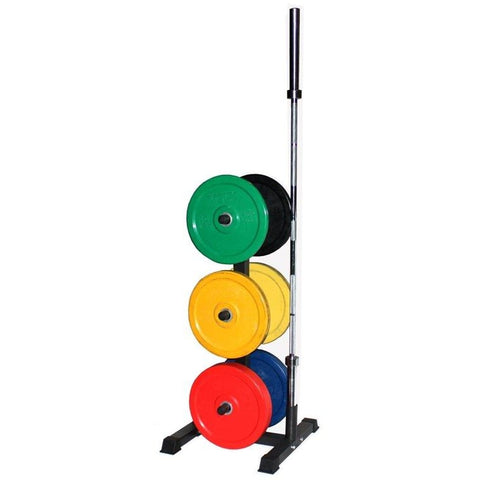 VTX Vertical Olympic Bumper Plate Rack with Bar Holders #GOPT - Storage