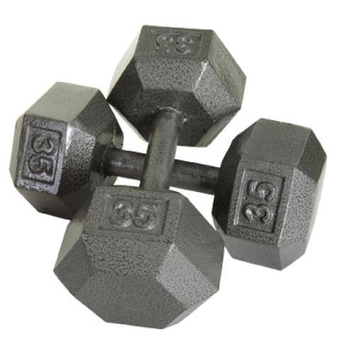 USA Sports Solid Iron Hex Dumbbells - Iron Dumbbells
